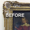 Frame restoration before treatment
